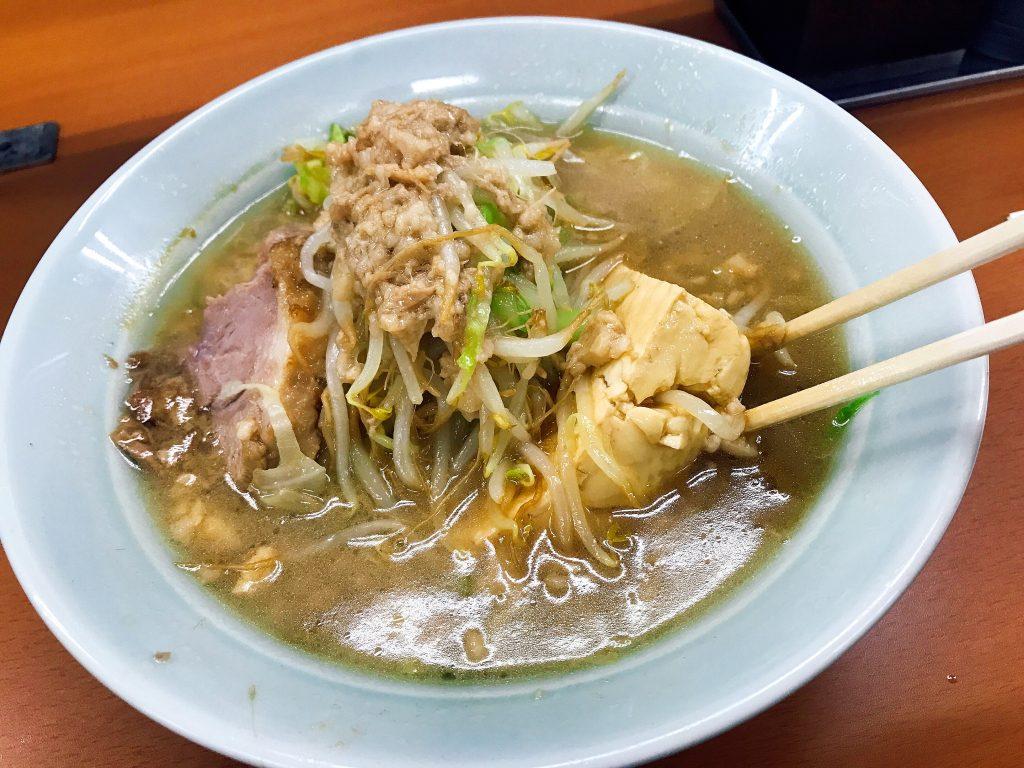<糖質制限DIARY>DAY2 ガッツリいきたい日は立川マシマシの「麺が豆腐」の画像