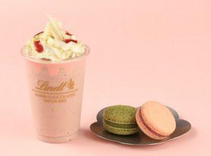 桜ピンクにうっとり♡期間限定のマカロンとショコラドリンクが新登場!の画像