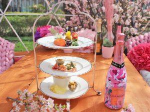 お花見の特等席、発見!東京ミッドタウンの桜並木に屋外ラウンジがオープンの画像