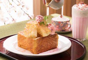 名物ハニートーストが桜色にドレスアップ!数量限定の春メニューが登場の画像