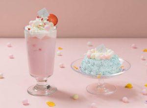 ふんわりカラーに釘付け!ベリー味の新作ケーキ&ラテが登場の画像