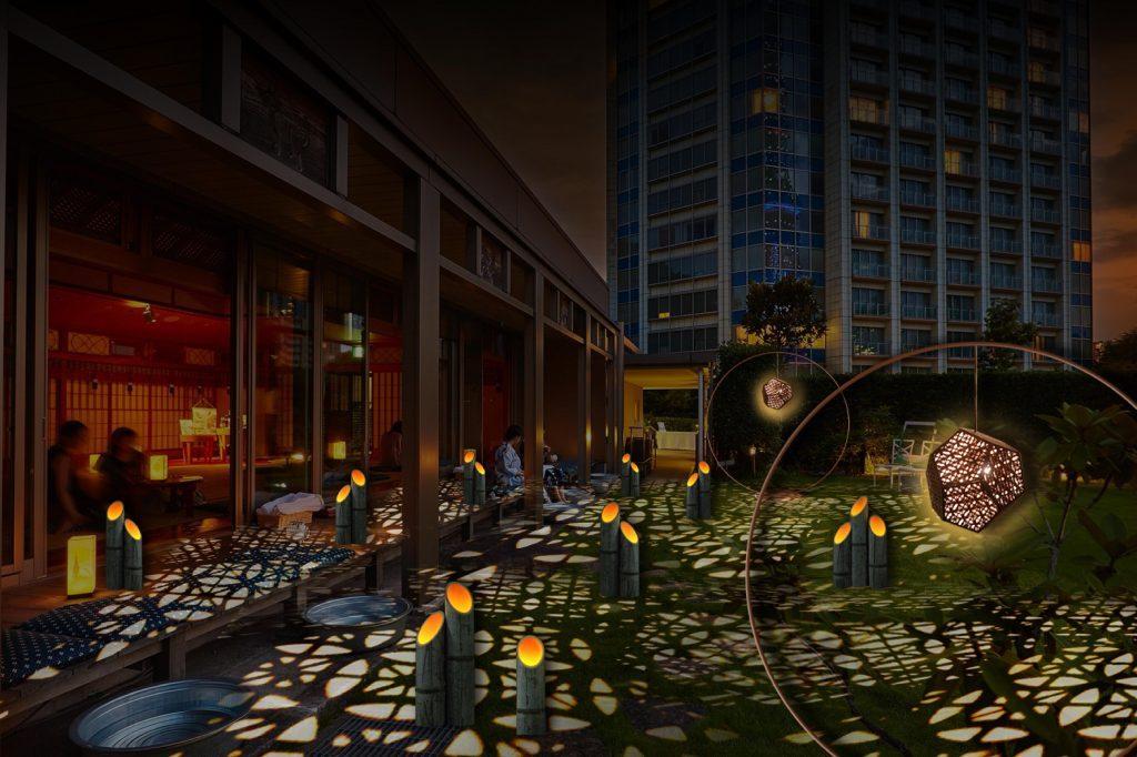 BGMは鈴虫。縁側、風鈴、水を張ったタライ……「夕涼み」が楽しめるカフェの画像
