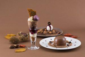 """マロンだらけ!リンツの秋限定ショコラデザートのテーマは""""チョコ×モンブラン""""の画像"""