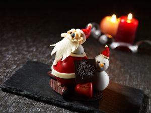 飾って食べて、楽しい!チョコレートで作るキュートなサンタクロースの画像