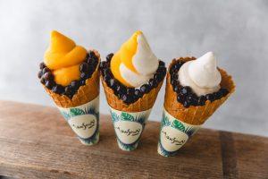 真夏もタピ活! マンゴー×タピオカのトロピカルなソフトクリームが埼玉限定で登場の画像