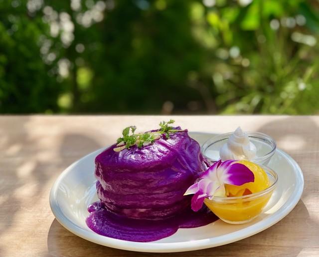 「紅芋のパンケーキ」