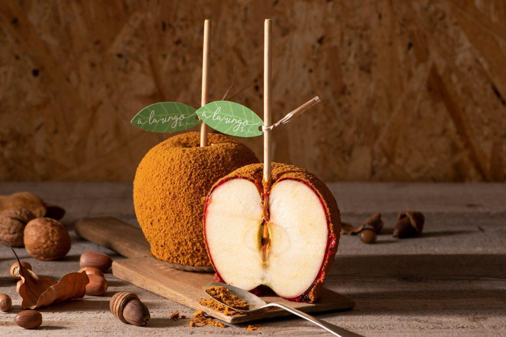 旬の新鮮りんごとほろ苦いキャラメルのハーモニー。青森りんご専門店の秋限定メニューの画像