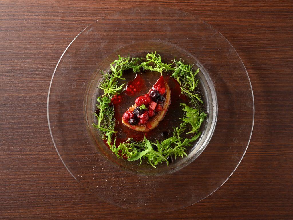フォアグラ ポワレのサラダ