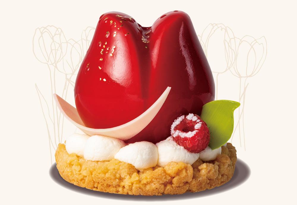 真っ赤なチューリップにくぎづけ! 華やかなケーキコレクションが西武池袋店限定で登場の画像