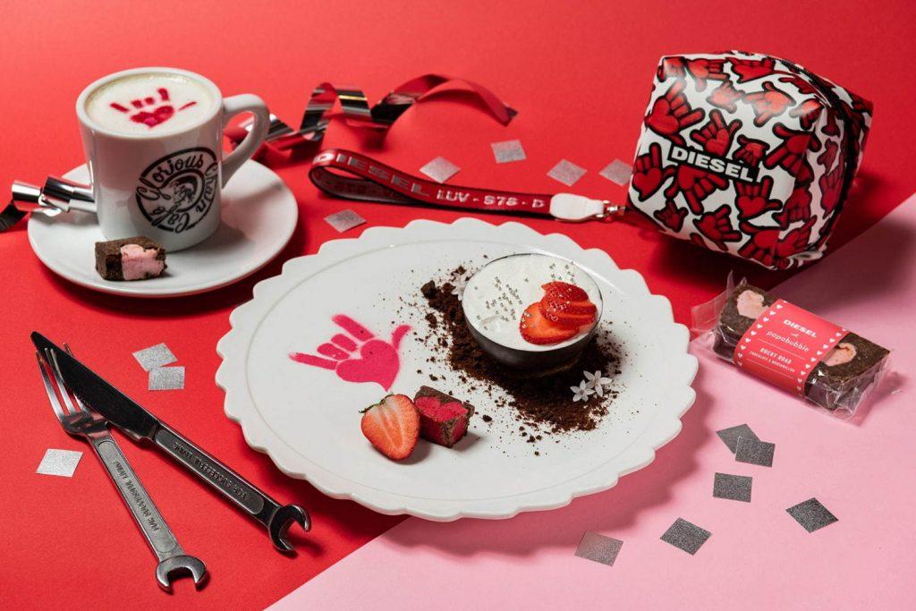 DIESELのカフェとパパブブレが、バレンタイン限定でコラボ!の画像