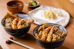 「天ぷら やぐち」のランチ天丼2種
