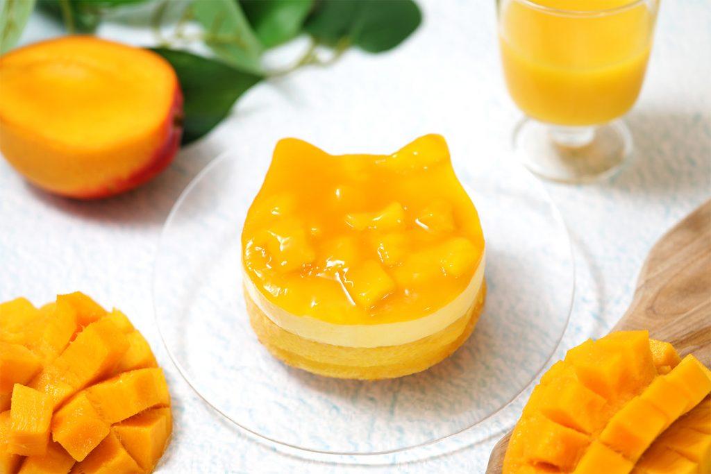 「ねこねこチーズケーキ」がトロピカルに衣替え! マンゴーをたっぷり使用した限定スイーツが登場の画像