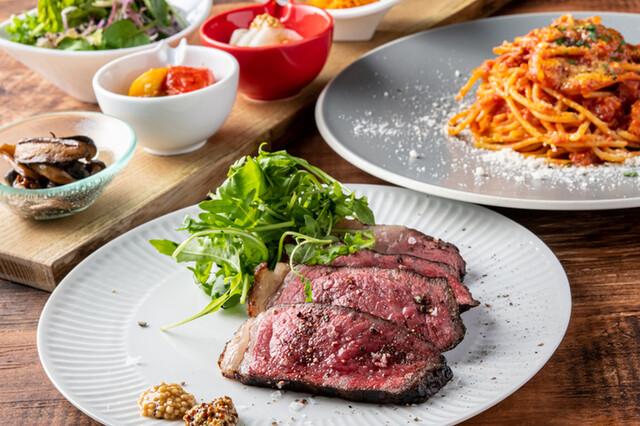 シェフ自慢のイタリアンと薪焼きステーキ