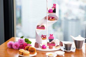 旬の食材でトレンドカラーを表現! コンラッド大阪でフューシャピンク・アフタヌーンティー開催の画像