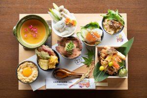 """京都・嵐山で食べたい! SNSで話題の""""京丼5種食べ比べ""""をもっと楽しむ新メニューの画像"""